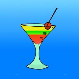 Cocktail met rietje